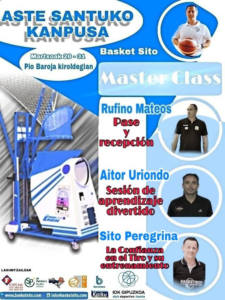 Cartel de Master Class del Campus de Semana Santa'18