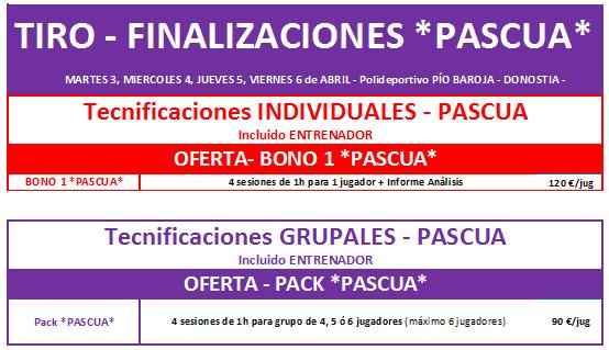 OFERTA Tecnificaciones PASCUA