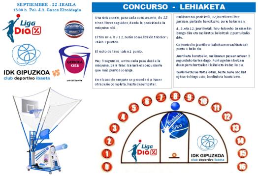 CONCURSO Tiros Libres Liga Dia AMISTOSO - Gernika