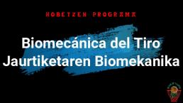 BIOMECÁNICA DEL TIRO